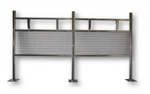 Стойка для 4-х держателейх ковриков из нержавеющей стали.